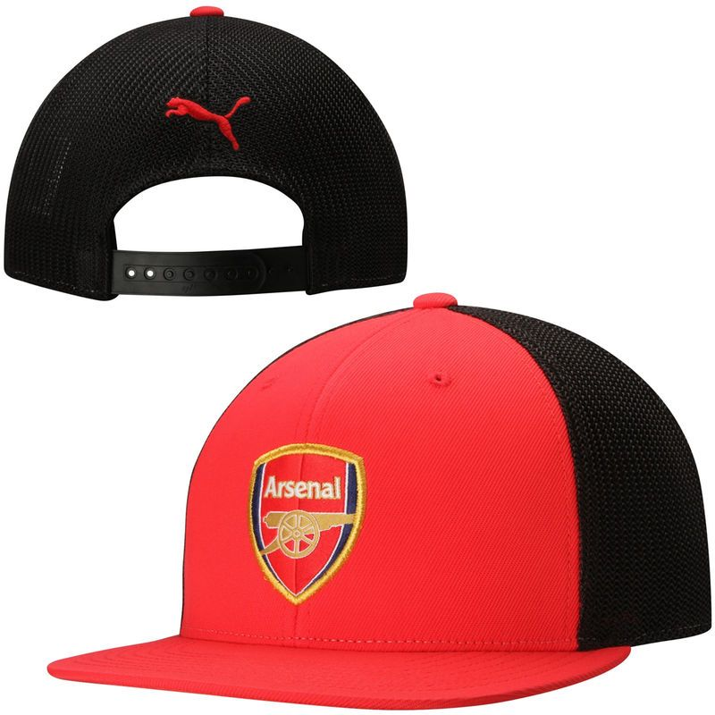 880980e8d7a278 Arsenal FC Puma 110 Snapback Flex Hat - Red/Black | Products | Hats ...
