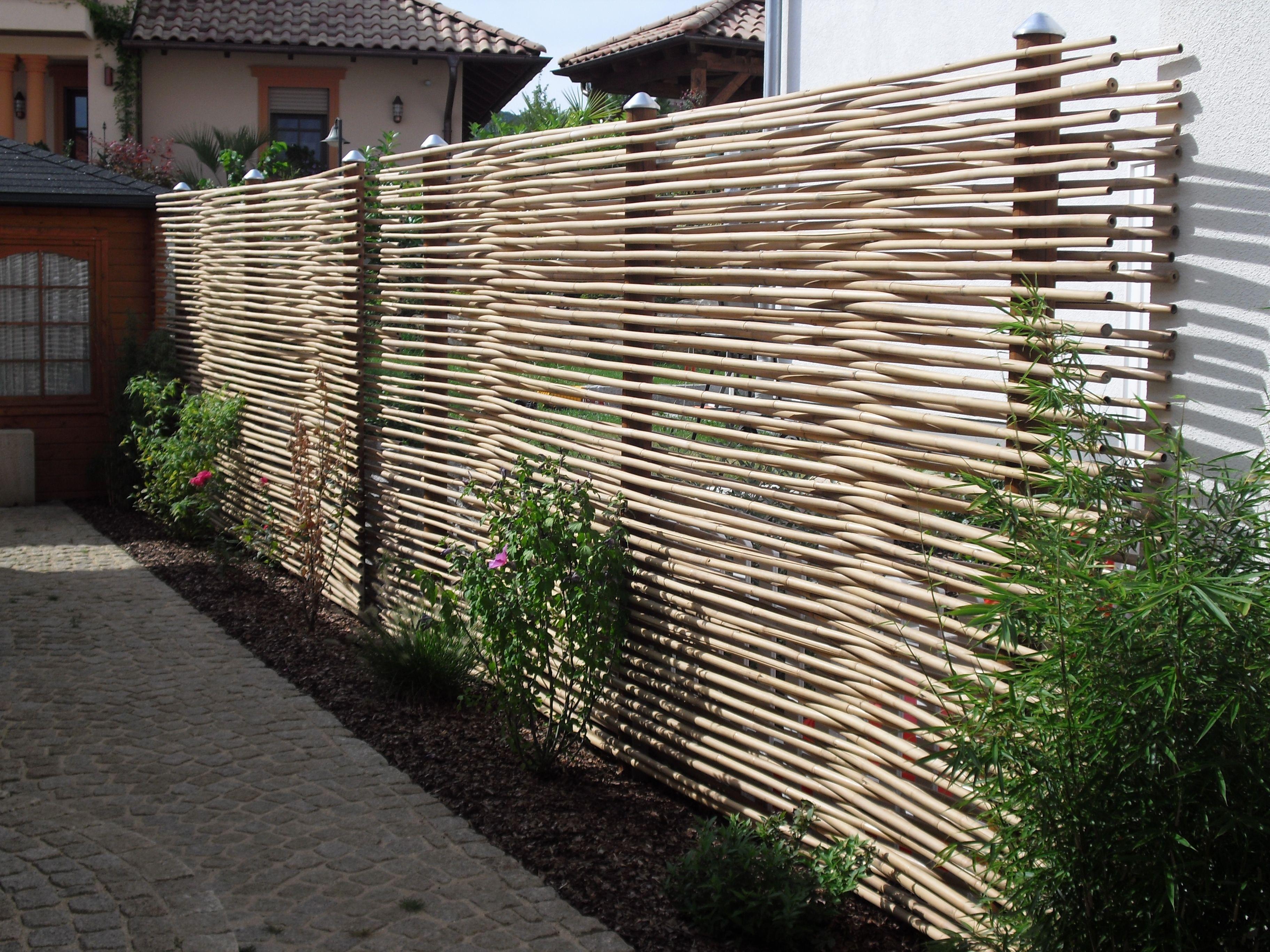 Sichtschutz aus Bambus zum Nachbar Sichtschutz garten