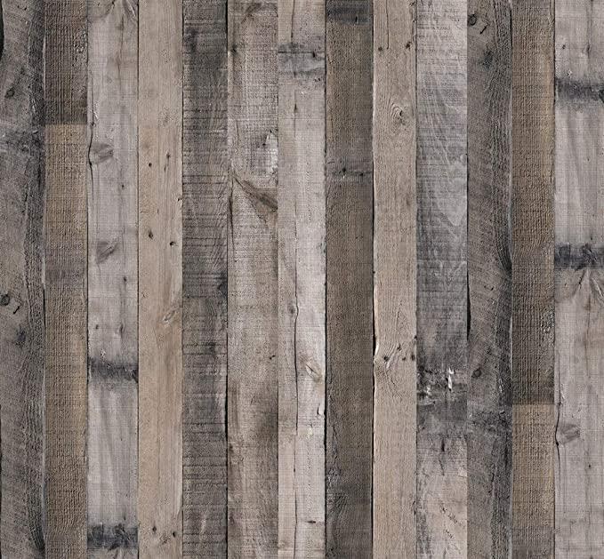 Gray Wood Wallpaper Wood Peel And Stick Wallpaper 17 7 X 118 1 Faux Wood Plank Paper Wood Self Adh Wood Wallpaper Wood Plank Wallpaper Peel And Stick Wallpaper