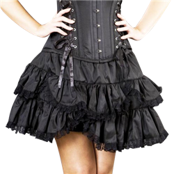 Scalloped Gothic Short Skirt - 101548 by Medieval Collectibles