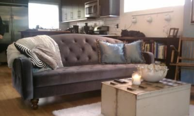 Superieur Ava Velvet Tufted Sleeper Sofa   Urban Outfitters