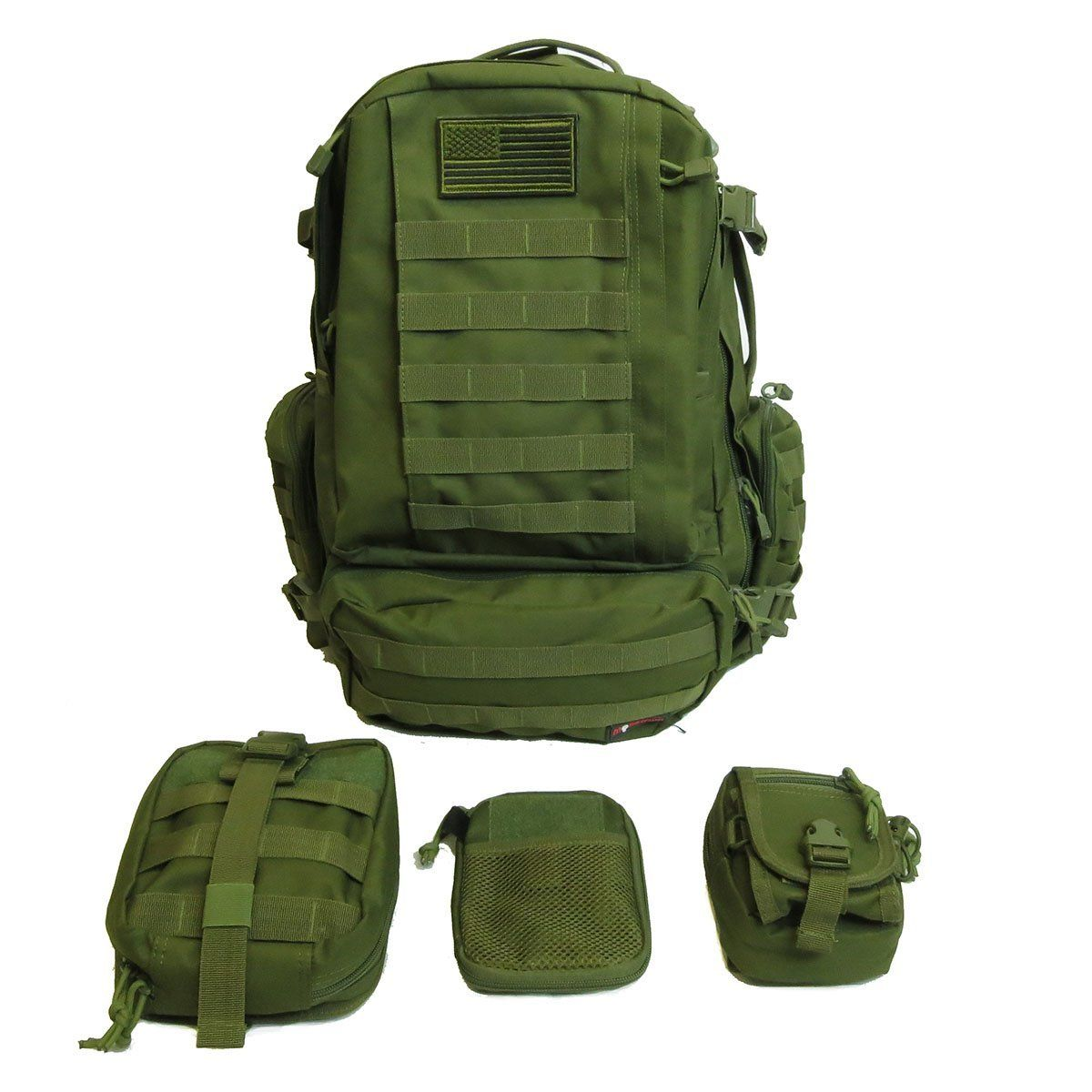 Monstrum Tactical 3 Day Backpack with MOLLE Accessory Packs (EMT ...