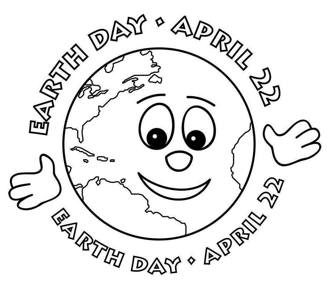 Earth Day April 22th Coloring Picture For Kids