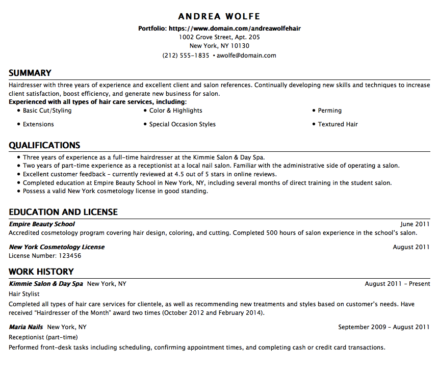 example le cordon bleu optimal resume