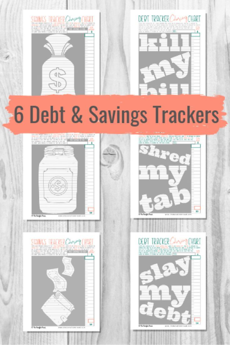 Budget Binder, Budget Planner Book, Debt Free Chart