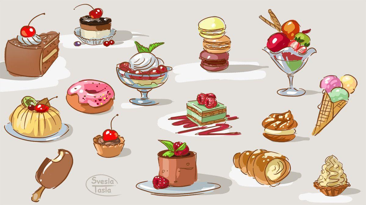 Картинки для срисовки со сладостями