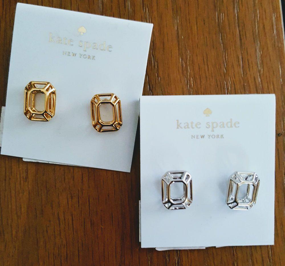 Kate Spade Freeze Frame Earrings Gold Or Silver Nwt Seasonless