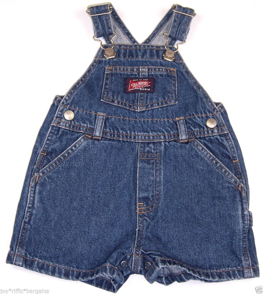 294ac844e Old Navy Baby Denim Bibs Overall Shorts Infant Boys Size 3-6 Months ...