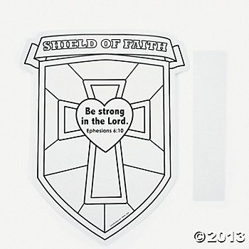Shield Craft For The Younger Kids Color Your Own Shield Of Faith
