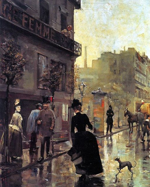 Akseli Gallen-Kallela, (1865-1931) - Boulevard In Paris, 1885 - a Finnish painter who is best known for his illustrations of the Kalevala, the Finnish national epic.