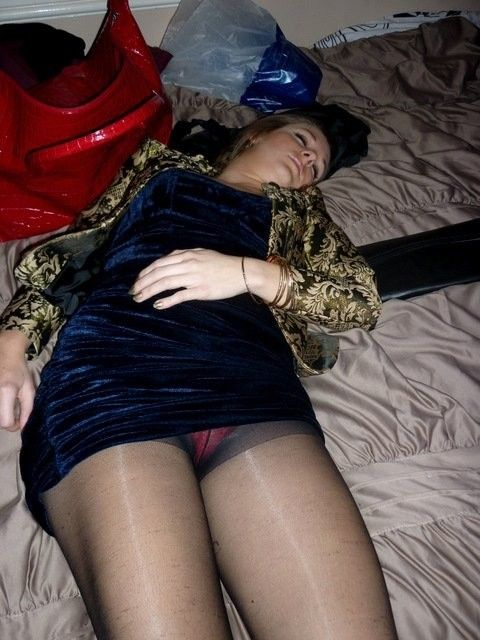 pantyhose in Wife sleep