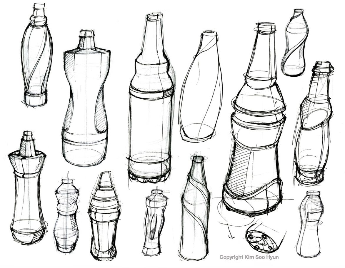 How to draw a bottle Sketchbook Pro