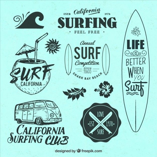 #Surf Life DECAL LOGO FOR CAR//VAN beach VINYL STICKER FUNNY surf instagram VW