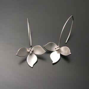 Lotus Earrings-silver