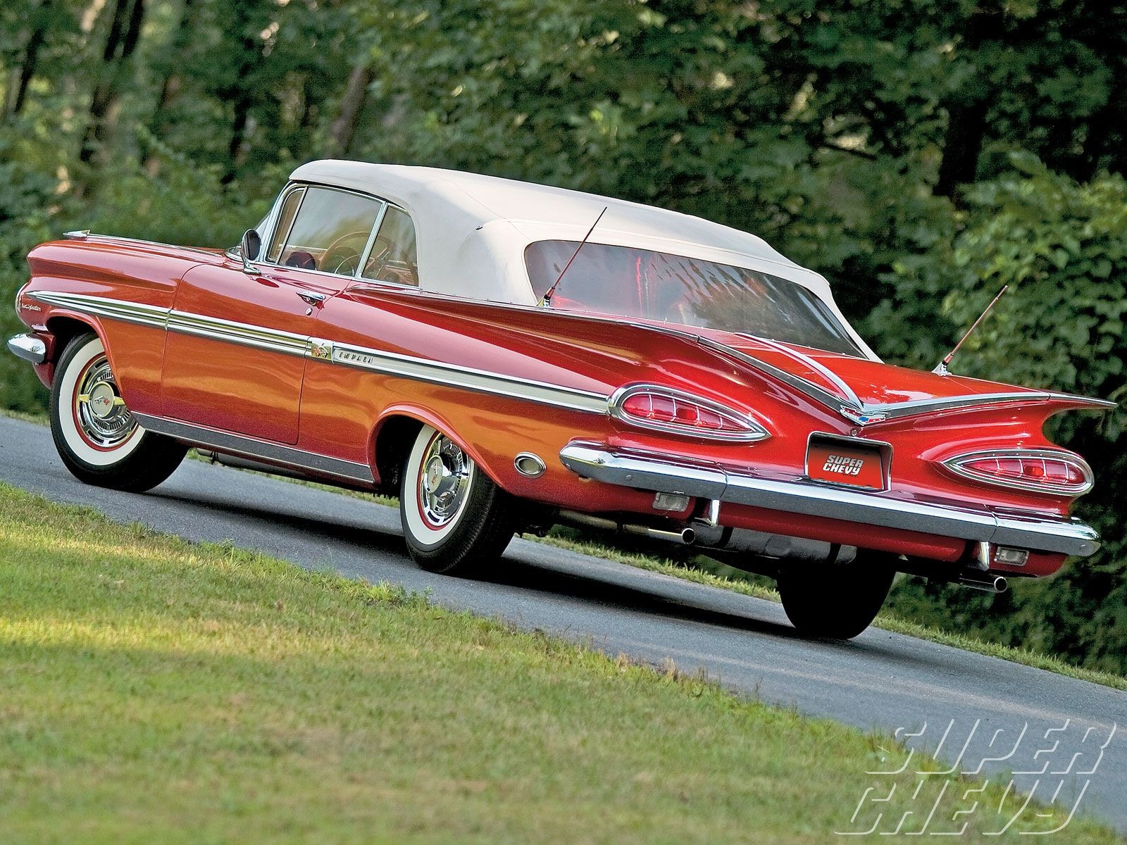 1959 chevrolet impala scott chalk 1959 chevrolet impala convertible driver side rear view  [ 1600 x 1200 Pixel ]