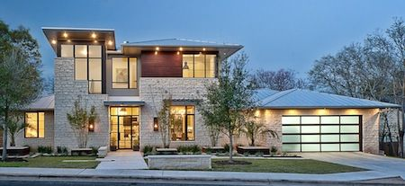 Modern Beautiful Home Glass Wall Material Combination And Sky Blue