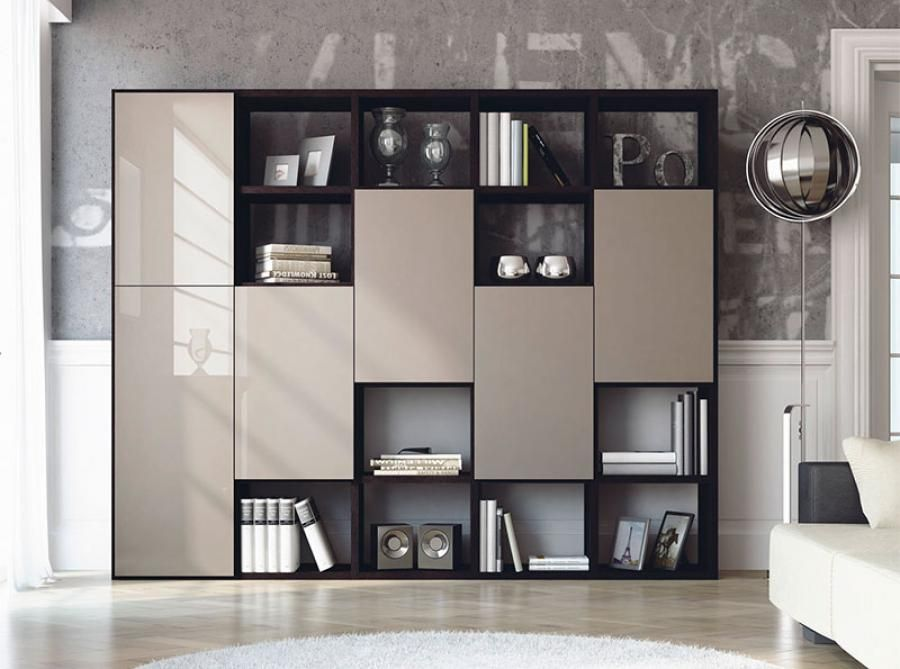 Modern Bookshelf With Doors Interior Barn Doors Pinterest