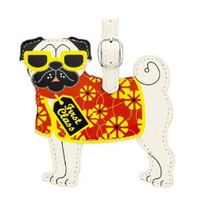Pug Luggage Tag.  I have this on one of my suitcases...LOL