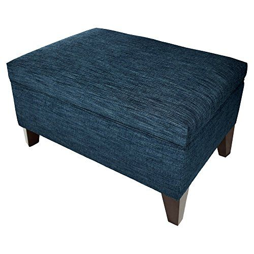 MJL Furniture Designs Brooklyn Collection Large Upholstered Living Room Lift  Top Storage Ottoman Lucky Series Denim    Continue To The Product At The  Image ...