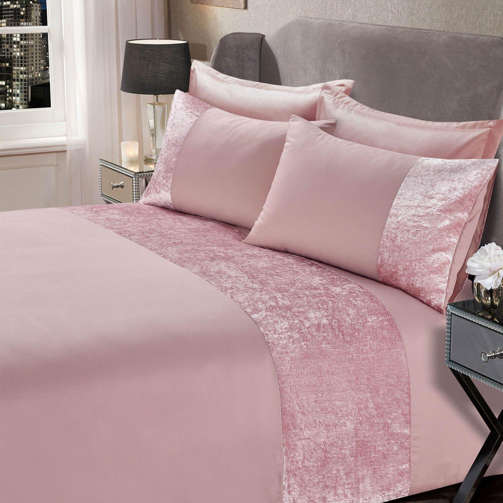Blush Pink Crushed Velvet Cushion Set