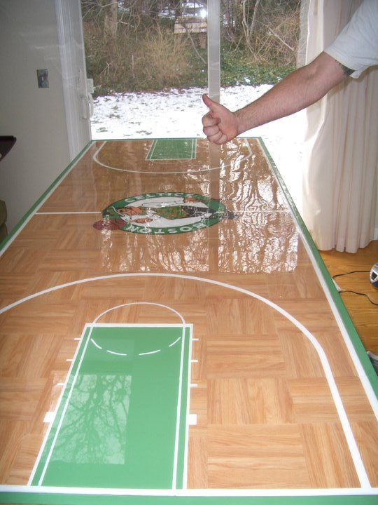 Boston Celtics Beer Pong Table In 2019 Sports Man Cave