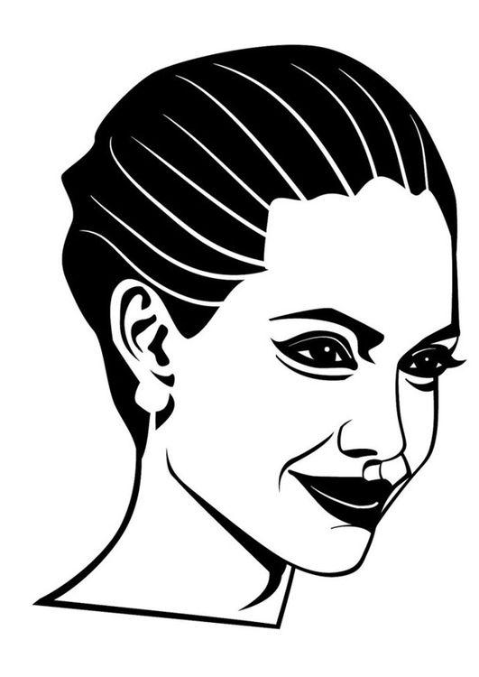 Dibujo para colorear Angelina Jolie | 2d design ideas | Pinterest ...