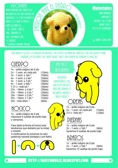 patron jake el perro the dog amigurumi …   crochet toys / plushies ...