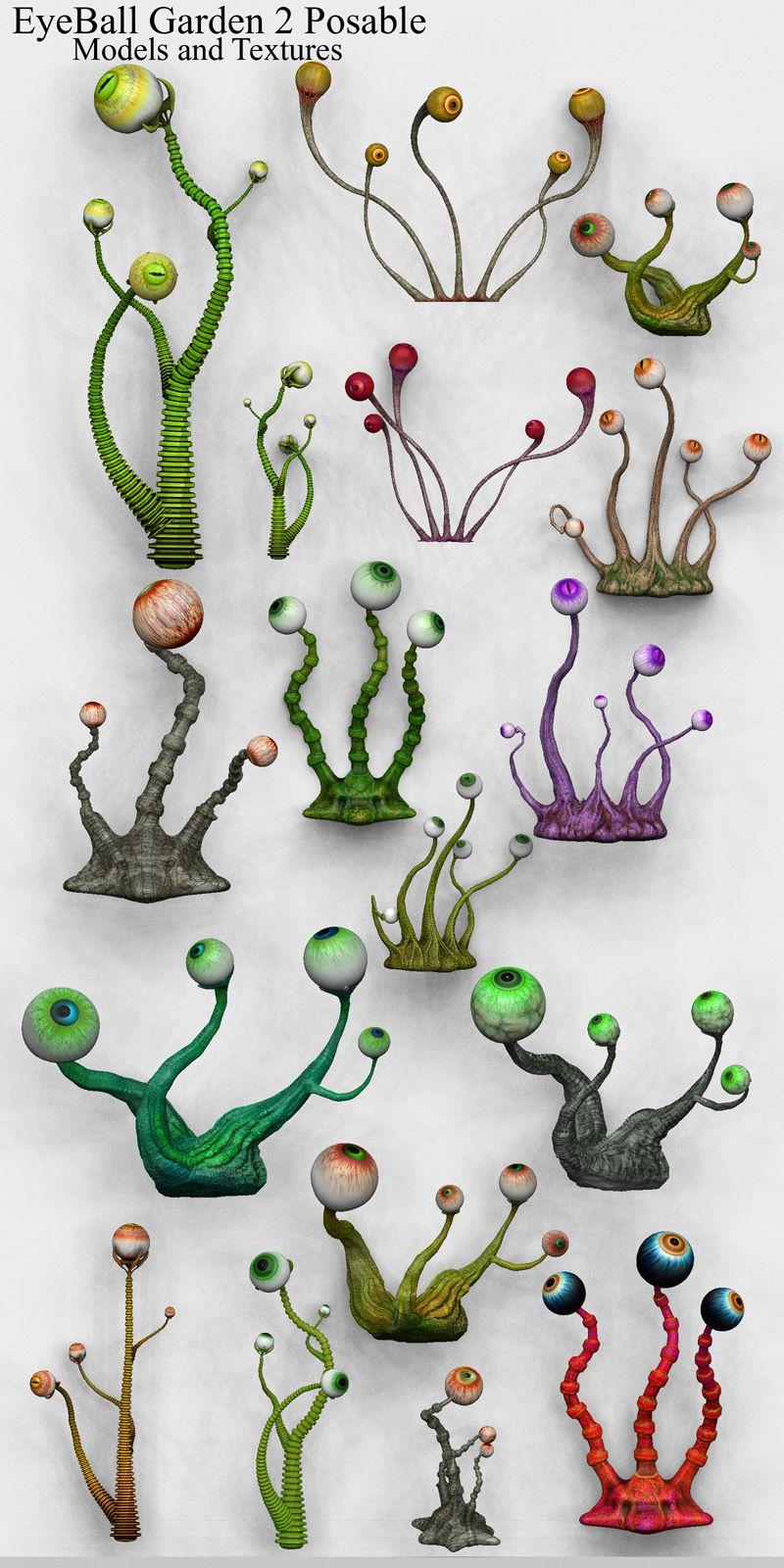 Photo of EyeBall Garden 2 Posable Themed Characters Animals Accessories Poisen