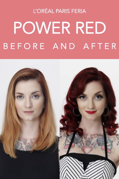 Before And After Hair Colors On Cherry Dollface With L Oreal Paris Feria Red R57 Crush