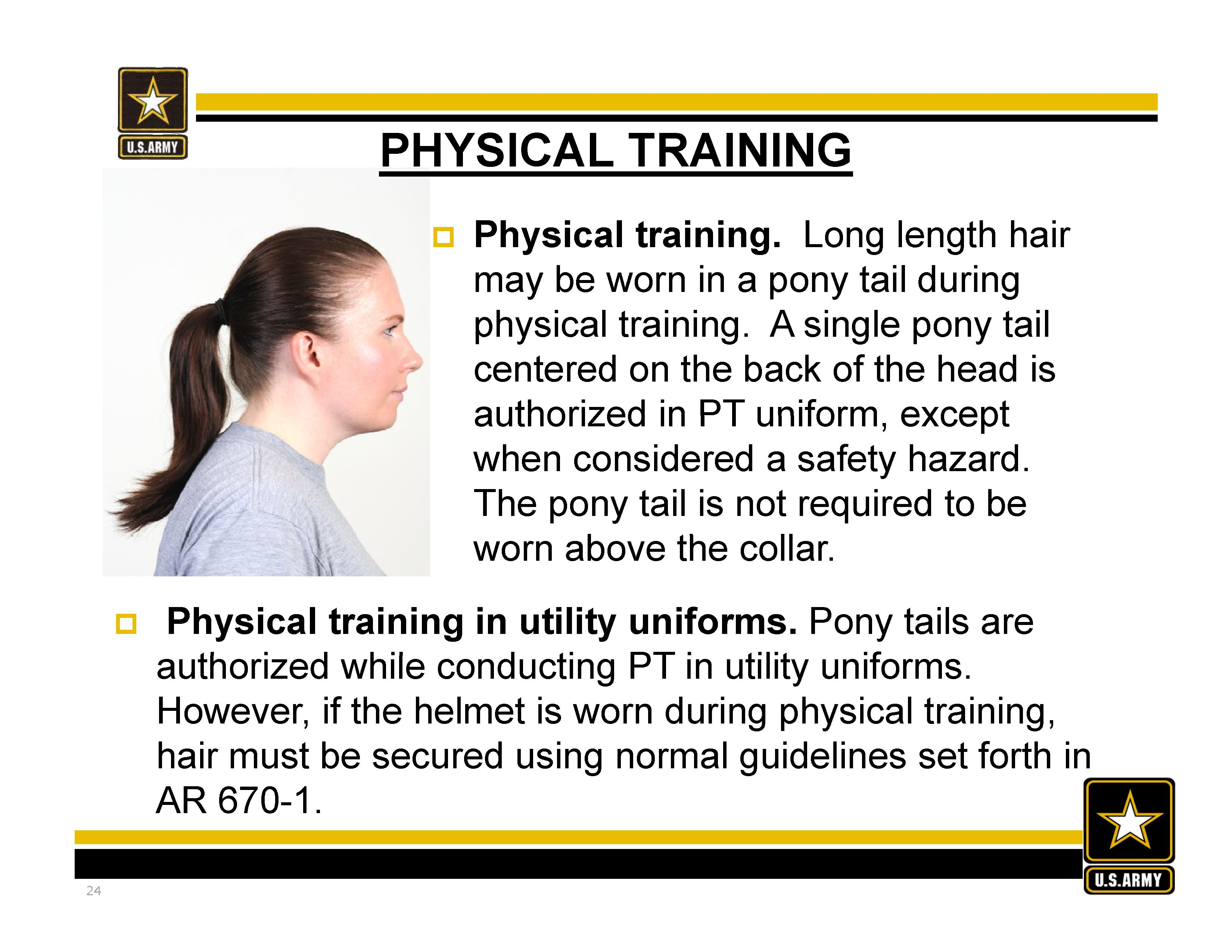 new army hair regulations - ar 670-1 as of 31 march 2014 #ponytail