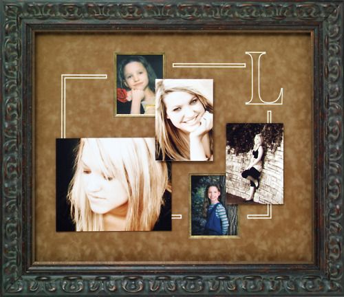 custom frame multiple images in one frame to tell a story add a monogram or - Multiple Photos In One Frame