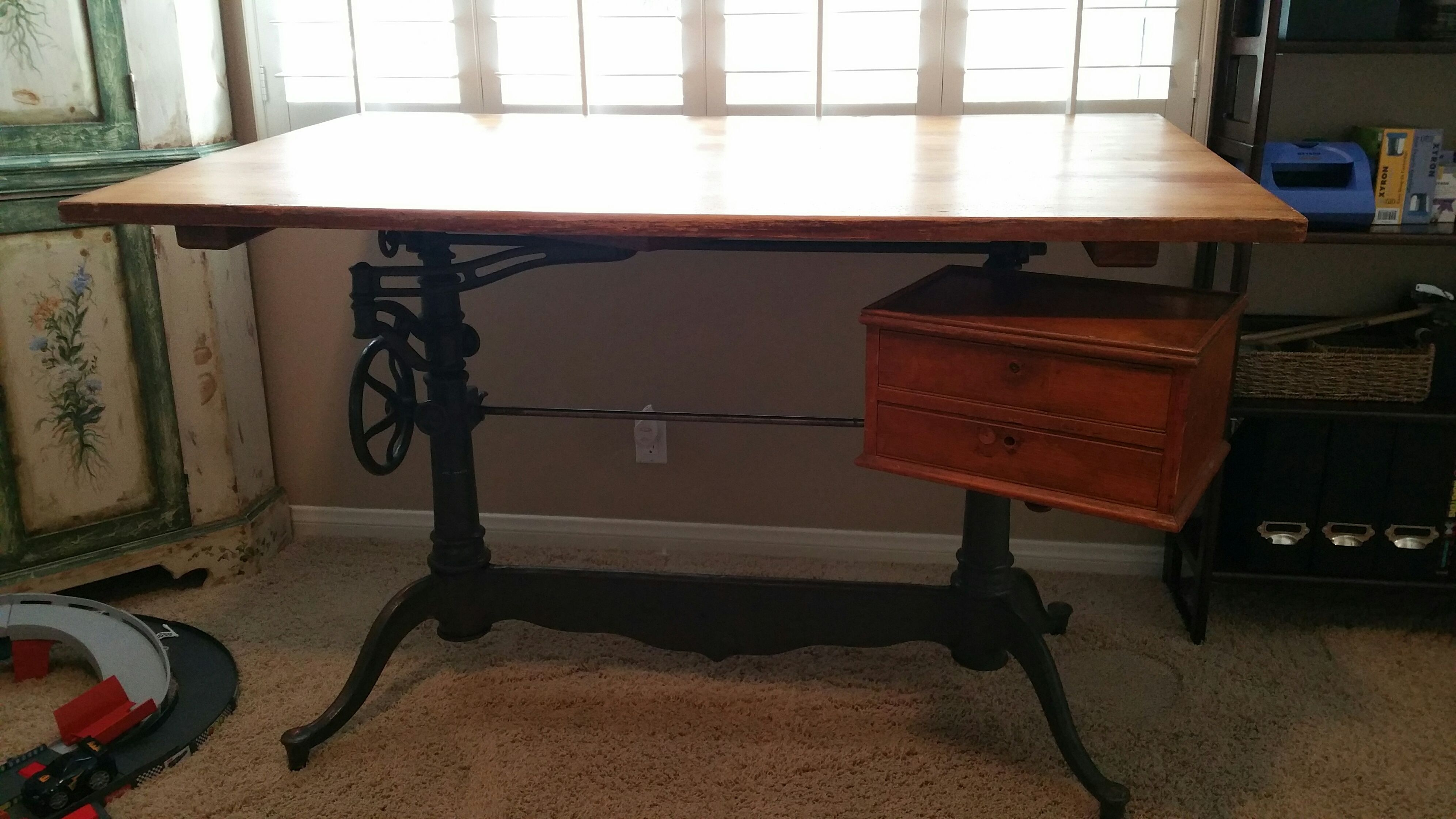 or desk urbanamericana products img industrial vintage drafting antique table