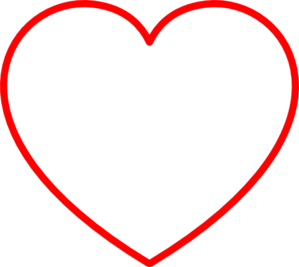 Red Heart Outline Clip Art Free Clip Art Heart Printable Heart Template