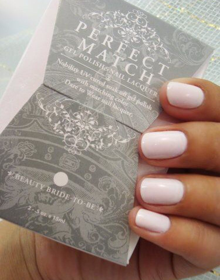 Perfect Match gel polish in Beauty Bride-to-Be | Perfectly Polished ...