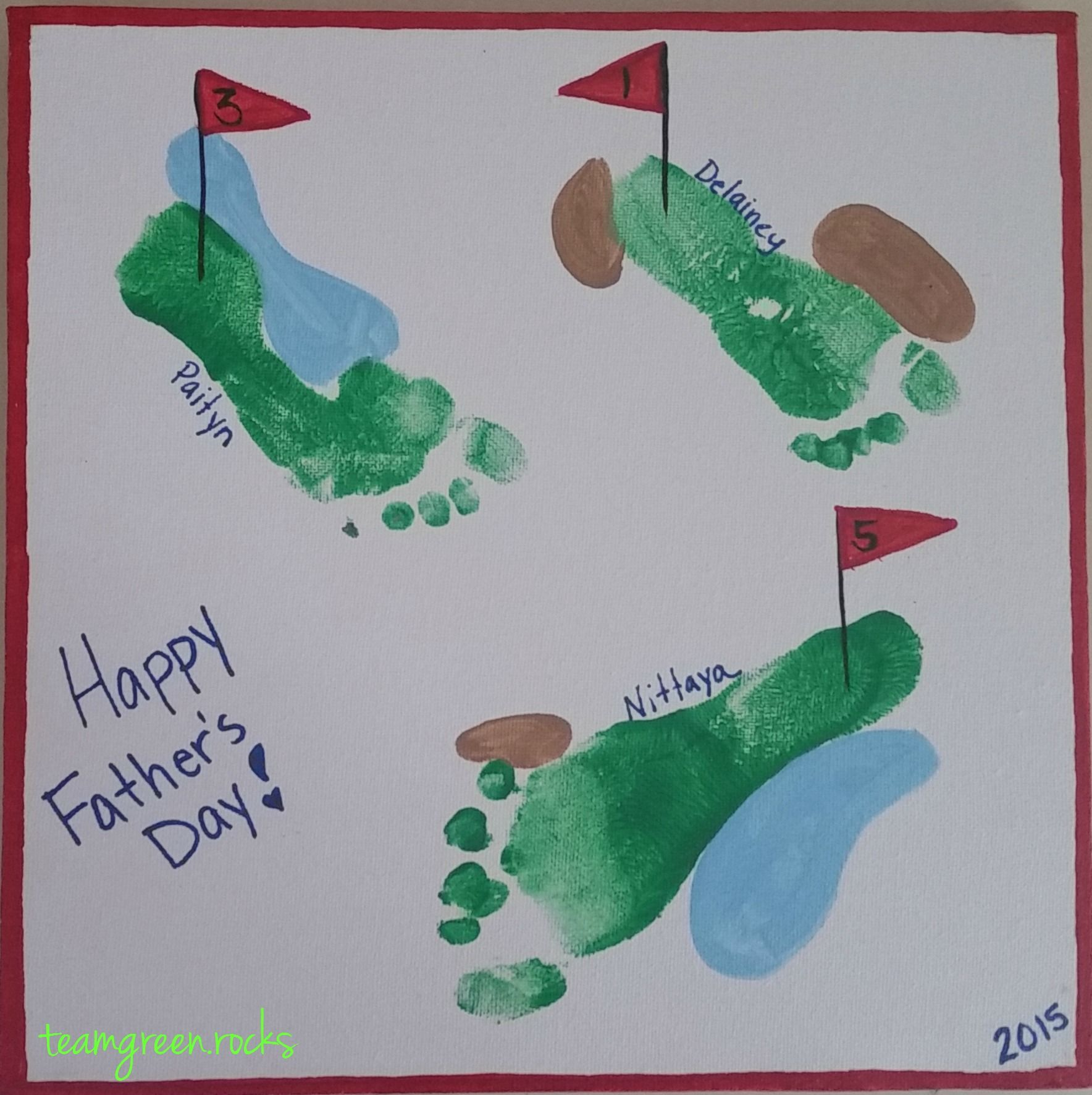 Diy Handprint And Footprint Art Father S Day Craft