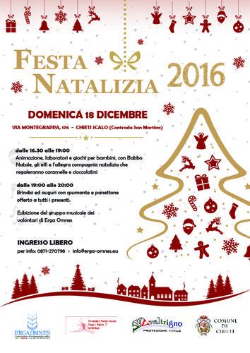 Chieti Festa Natalizia 2016 per le famiglie