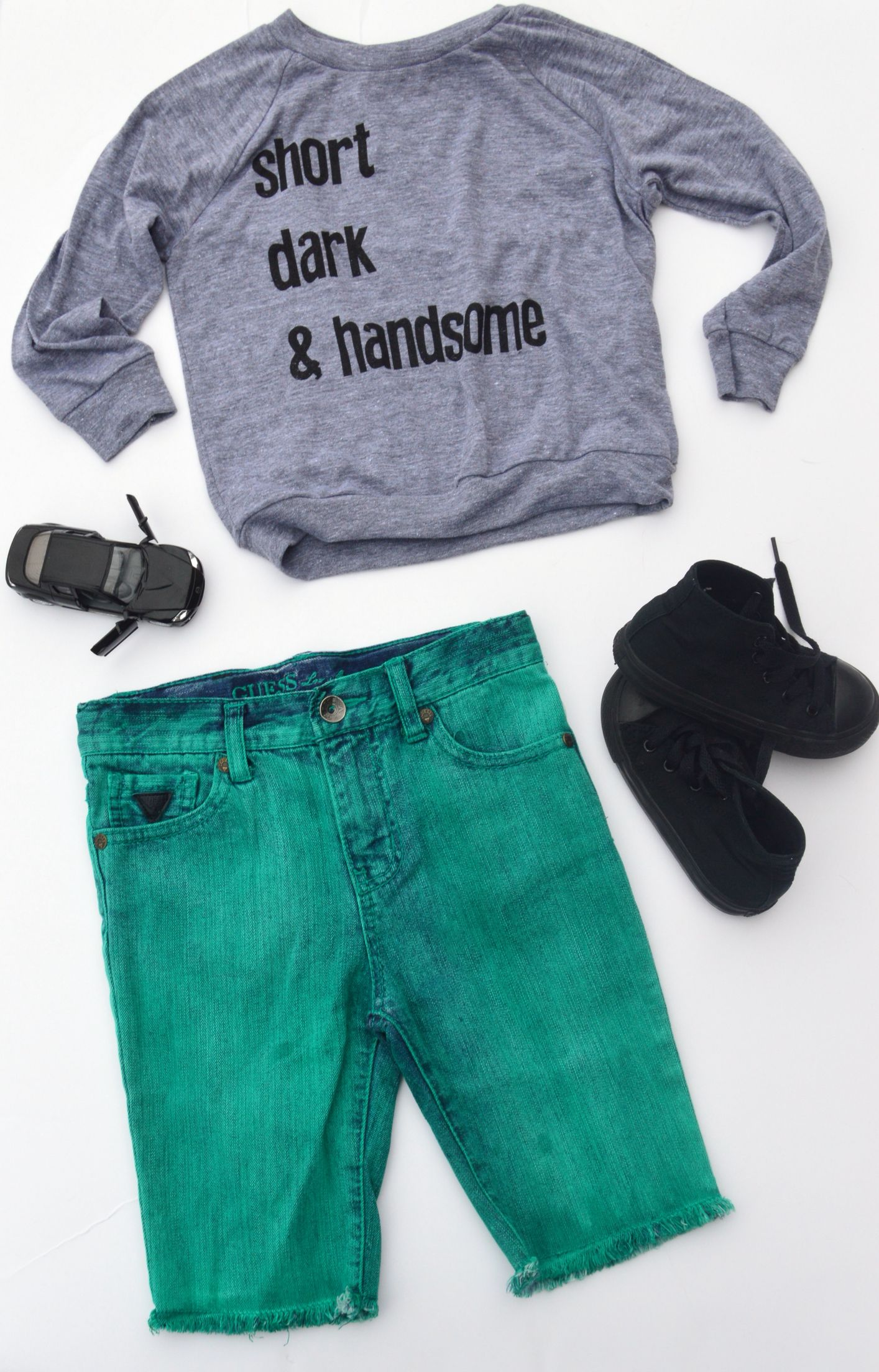 Short Dark & Handsome Raglan KaAn s Designs Guess Shorts Converse