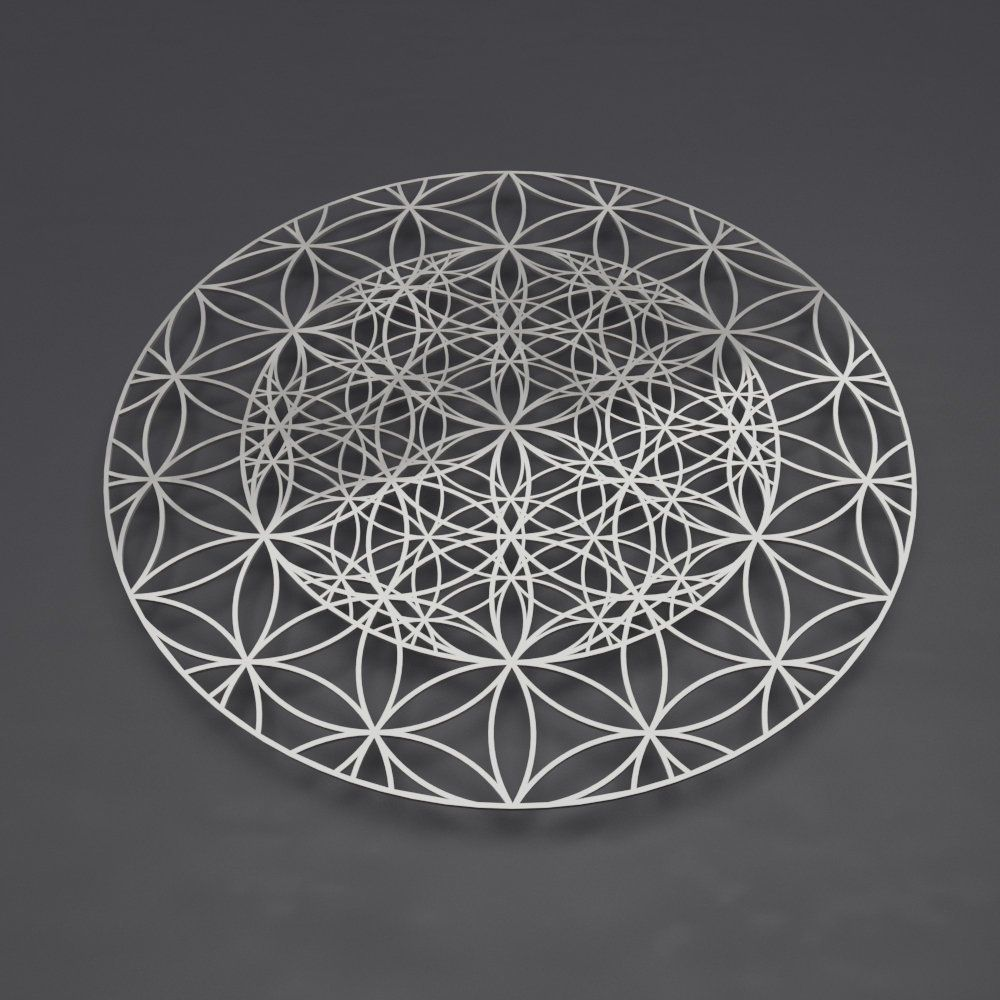 Flower of life sacred geometry metal wall art large wall sculpture