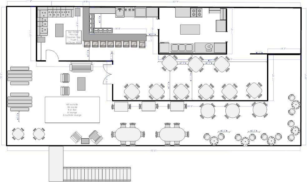 Cafe Floor Plans Monkey Face, LLC Layout design