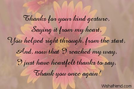 Thank You Poems Thank You Poems For Teachers Friendship Quotes