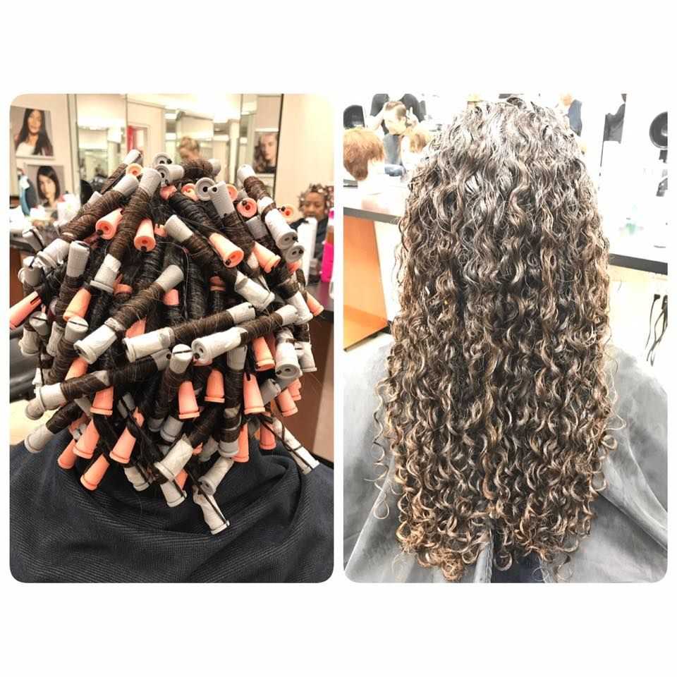 Perfect Piggyback Perm Wrap And Results Permed Hairstyles Curly Hair Inspiration Long Hair Perm