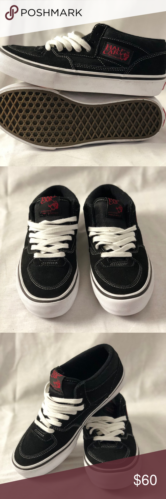 e6b837a53f Vans Mens Half Cab Pro Sneakers Black White Red Vans Mens Half Cab Pro  Sneakers Black White Red Men s 7.5 Condition  New without box. Size  7.5  Men s Offers ...