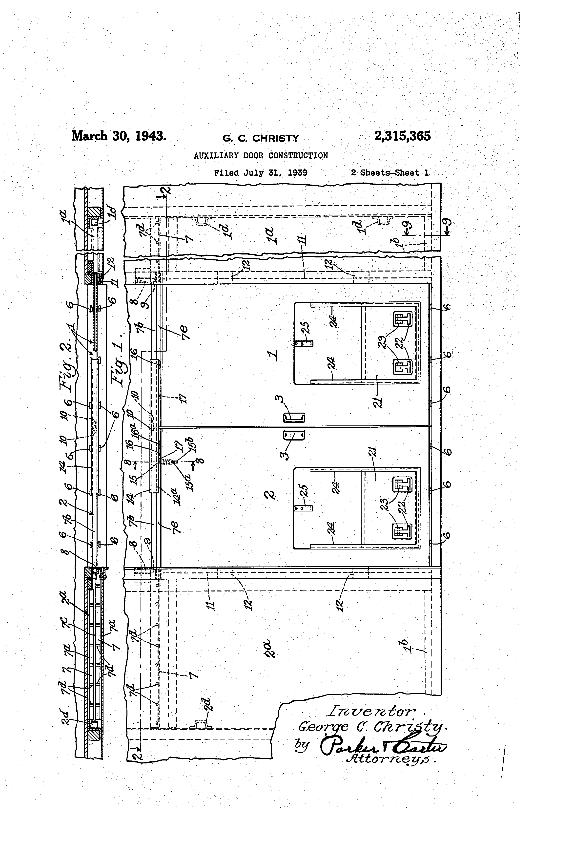 Us2315365a - Auxiliary Door Construction
