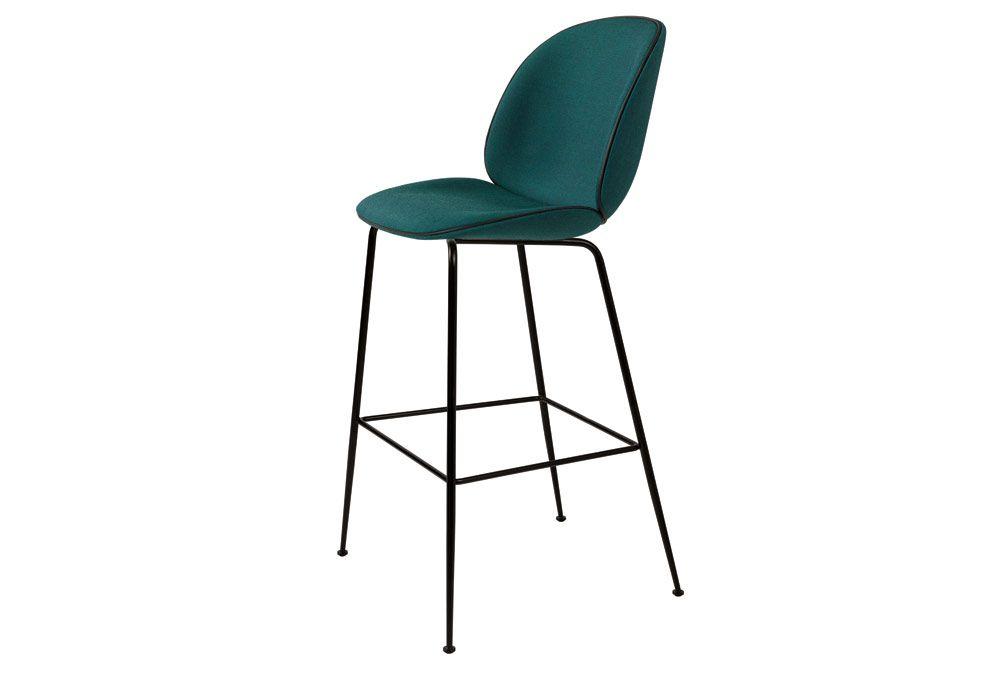 Visuel Chaise haute de bar Beetle tapissée H65/75cm Cuisine