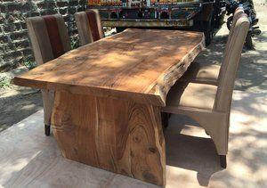 Table Freeform En Acacia Avec Patte En Bois Live Edge Wood Table Live Edge Table Solid Wood Dining Room