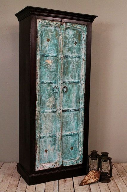 Distressed Vintage Bedroom Inspiration: Rustic Reclaimed Distressed Handmade Antique Indian