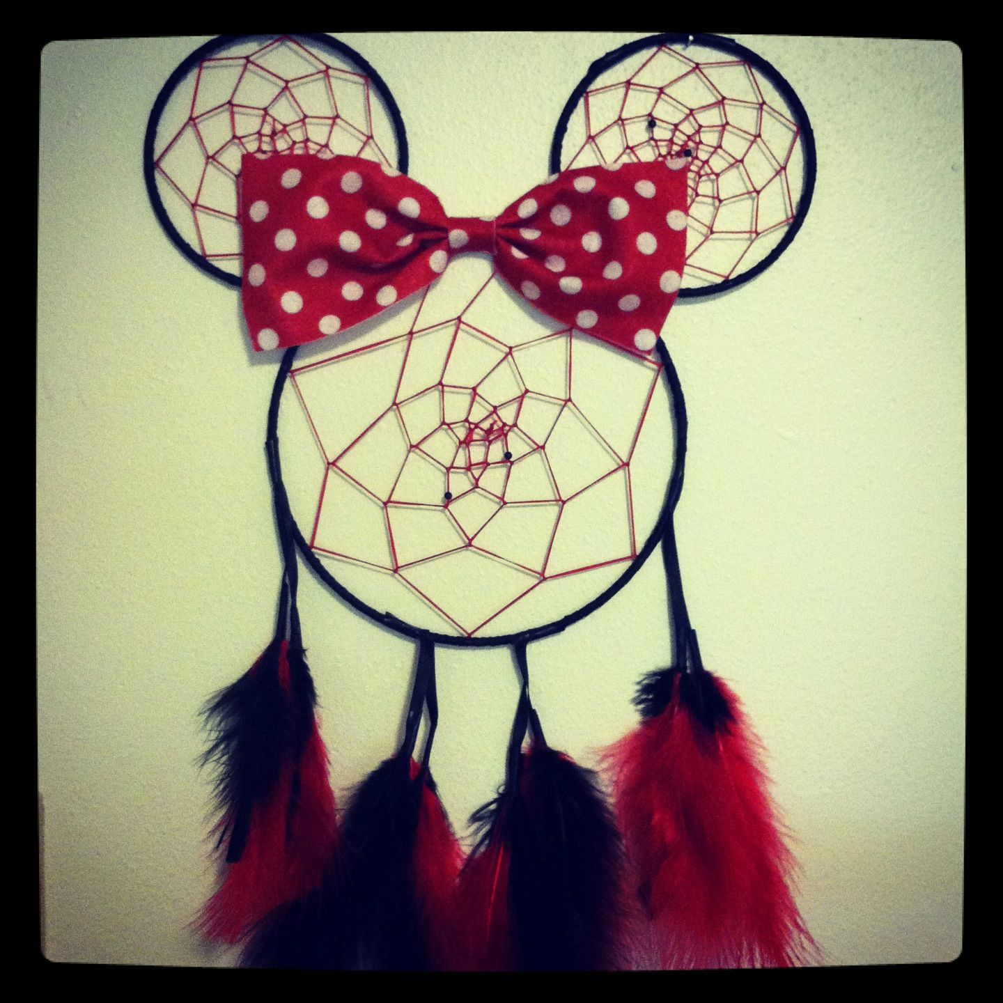 Minnie Mouse inspired dream catcher :) | layna boo | Pinterest ...