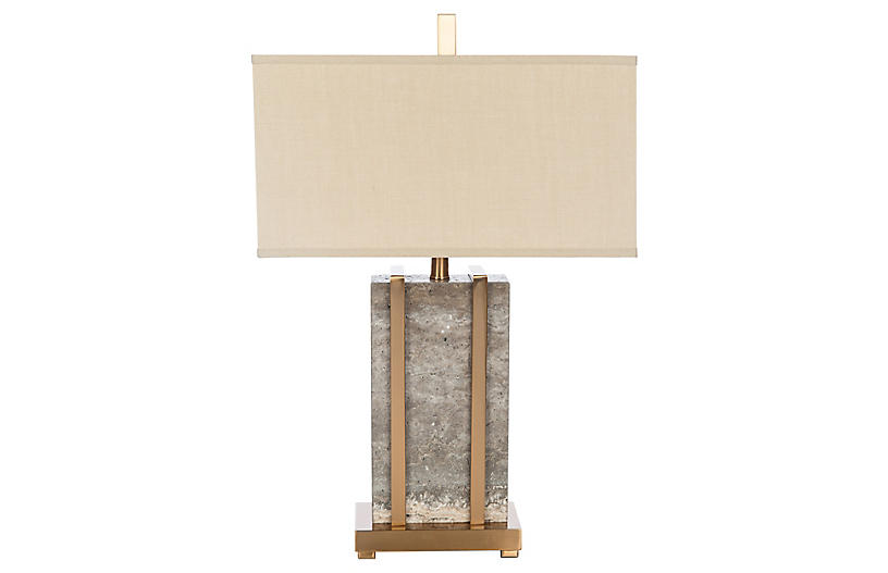 Esplanada Stone Table Lamp Gray Gold In 2021 Grey Table Lamps Lamp Table Lamp