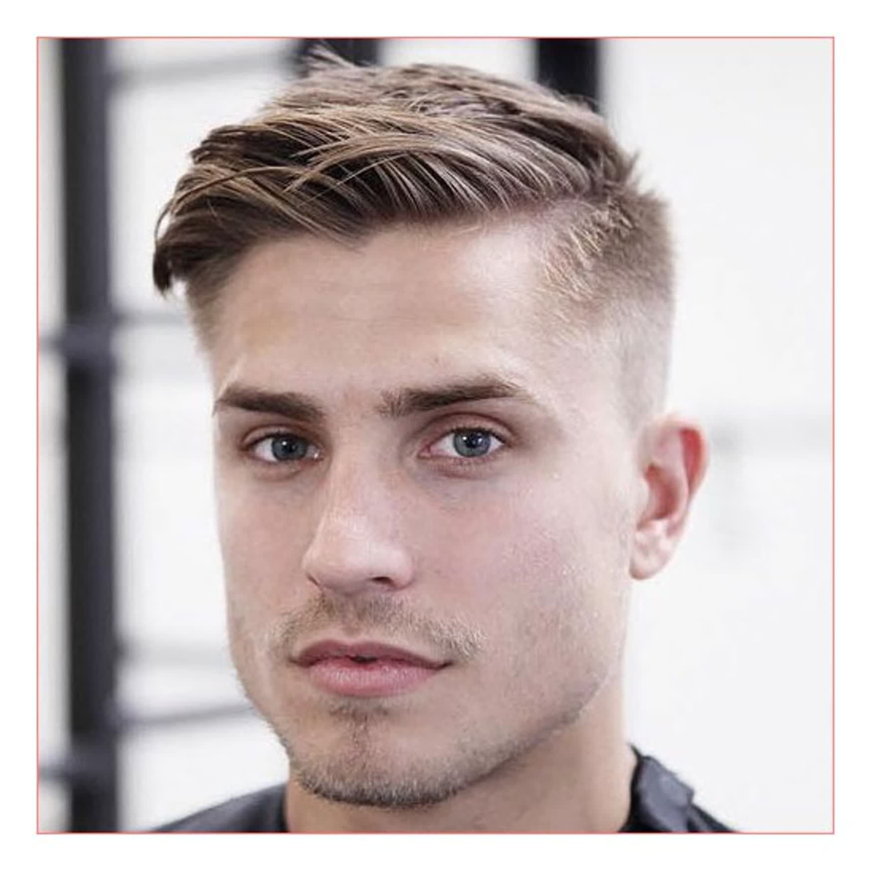 the ideal mens hairstyle long top fade sides receding
