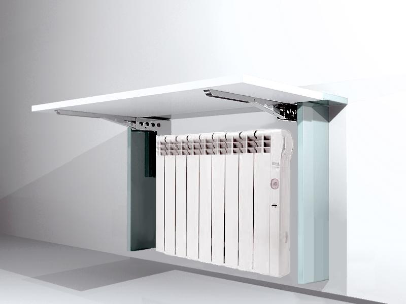 Mesa abatible cubre radiador optimiza espacio ocupado por radiador creando una mesa abatible - Cubre escritorio ...